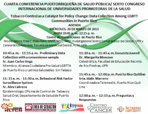 The Citizens' Alliance Pro LGBTTA Health of Puerto Rico participates with other government and research advocates pro LGBTT health in the IV Public Health Conference of Puerto Rico.
